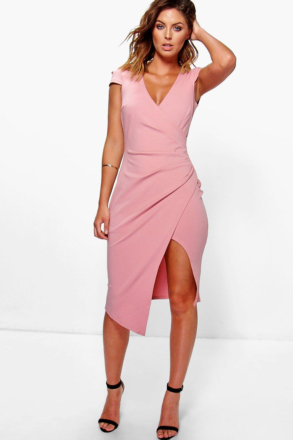 Image Result For Cap Sleeve Wrap Dress