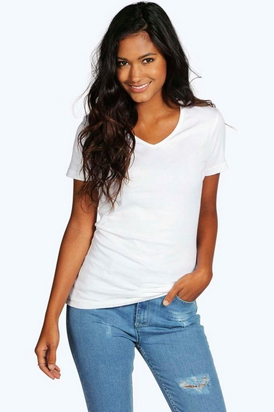 Isla Basic V Neck T-Shirt