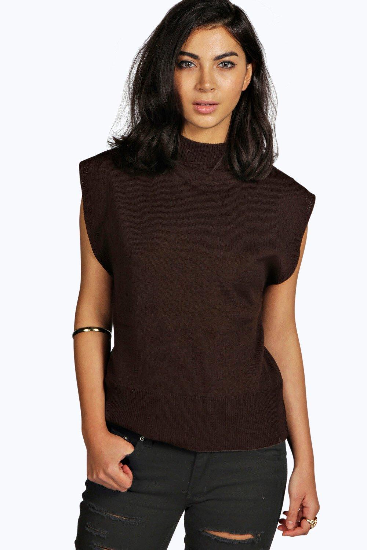 boohoo bella pull tricot sans manches pour femme ebay. Black Bedroom Furniture Sets. Home Design Ideas