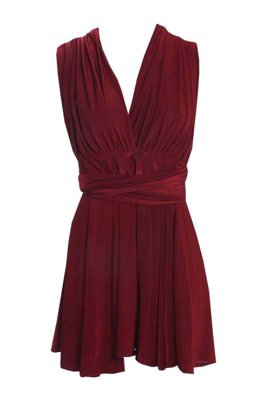 Boohoo Womens Silvana Multi Way Slinky Bodycon Dress