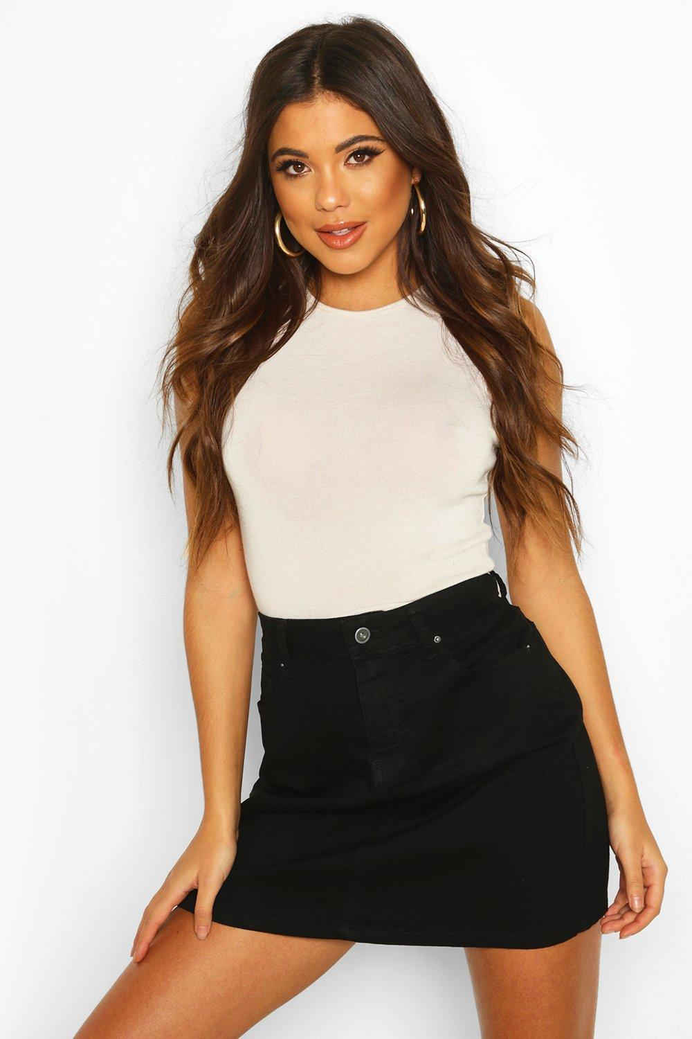 Amelia Western Style Denim Mini Skirt