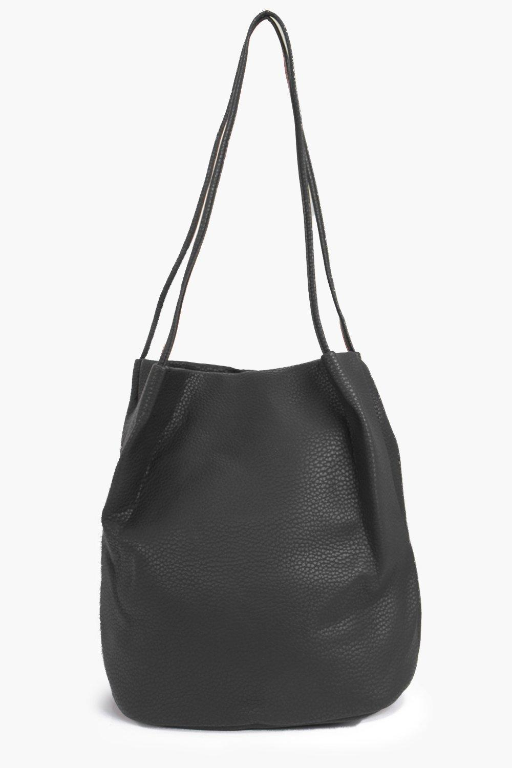 Origami Top Simple Duffle Bag - black - A bag will