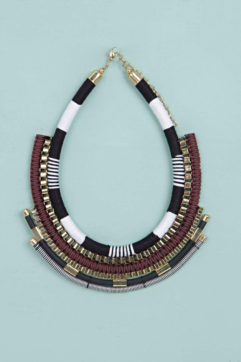 Olivia Layered Rope Collar Necklace