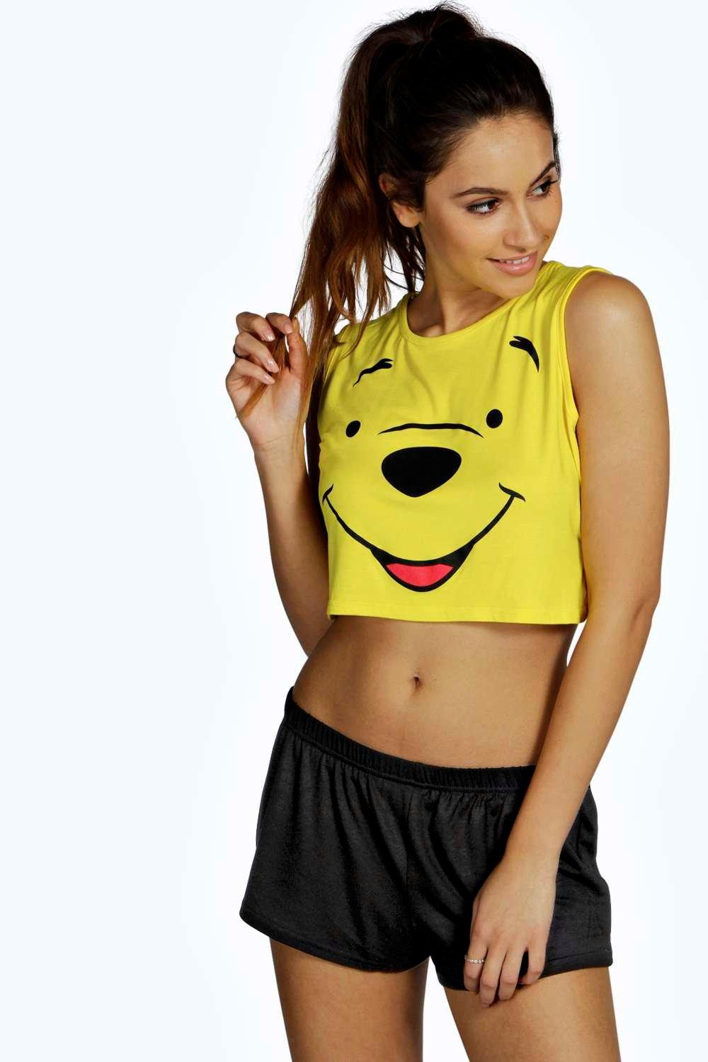 Disney Winnie Crop Vest and Short Set