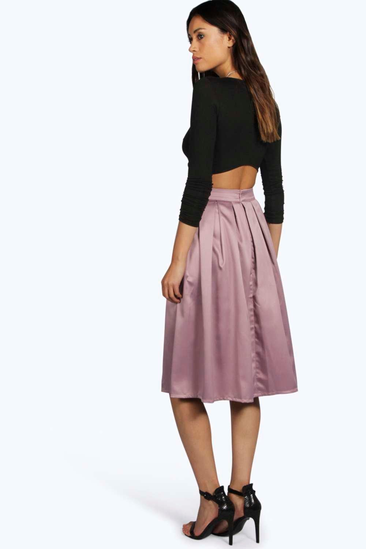 boohoo womens boutique marin pleated midi skirt ebay