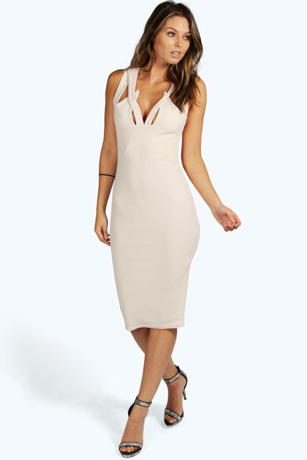 Leanne Cut Out Detail Midi Dress