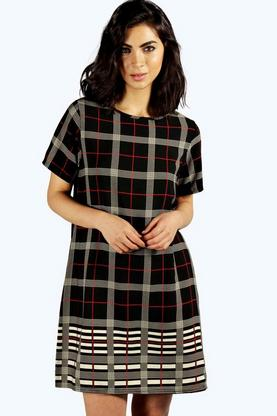 Lavinne Checked Shift Dress