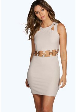 Tina Cut Away Eyelet Bodycon Dress