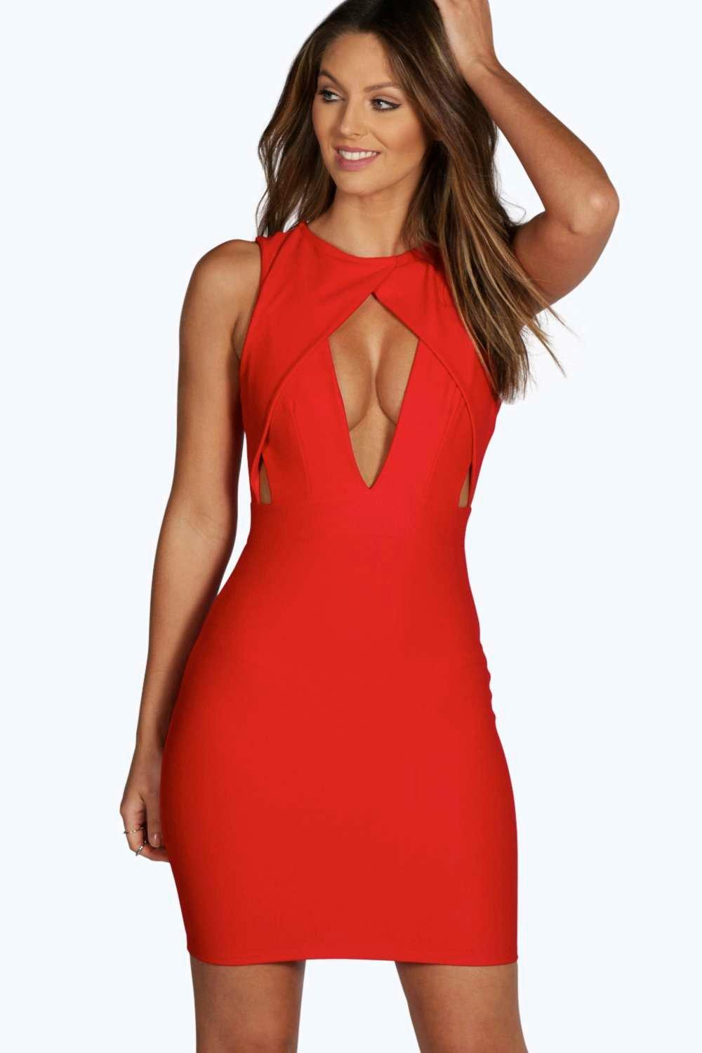 Corinne Cut Out Front Detail Bodycon Dress