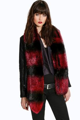 Boutique Ava Flash Faux Fur Scarf