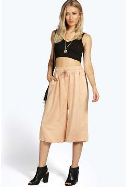 Mary Suedette Wide Leg Culotte