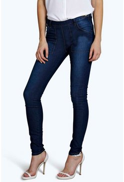 Layla Low Rise Side Zip Skinny Jeans