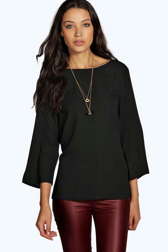 Tall Georgie Wrap Back 3/4 Sleeve Blouse