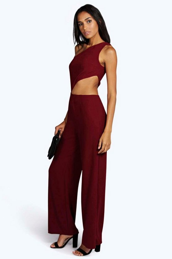 Tall Anthi Shoulder Cut Out Wide Leg Jumpsuit