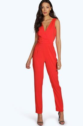 Tall Holly Crepe Low Front and Back Jumpsuit