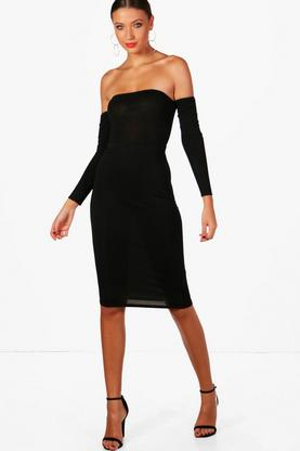Tall Mindy Basic Jersey Midi Tube Skirt