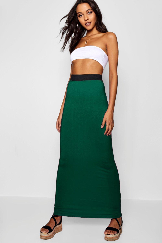 Helena Jersey Maxi Skirt  khaki
