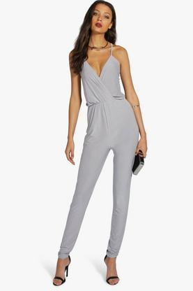 Tall Ebony Cross Back Jumpsuit
