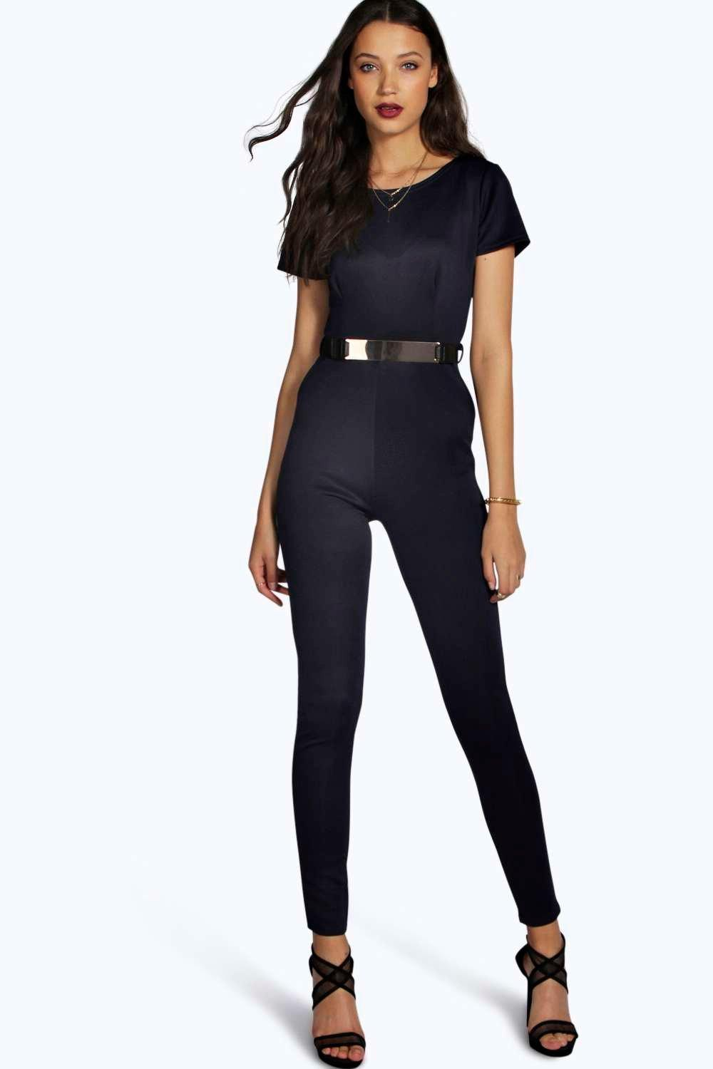 Tall Scarlett Cap Sleeve Belted Jumpsuit