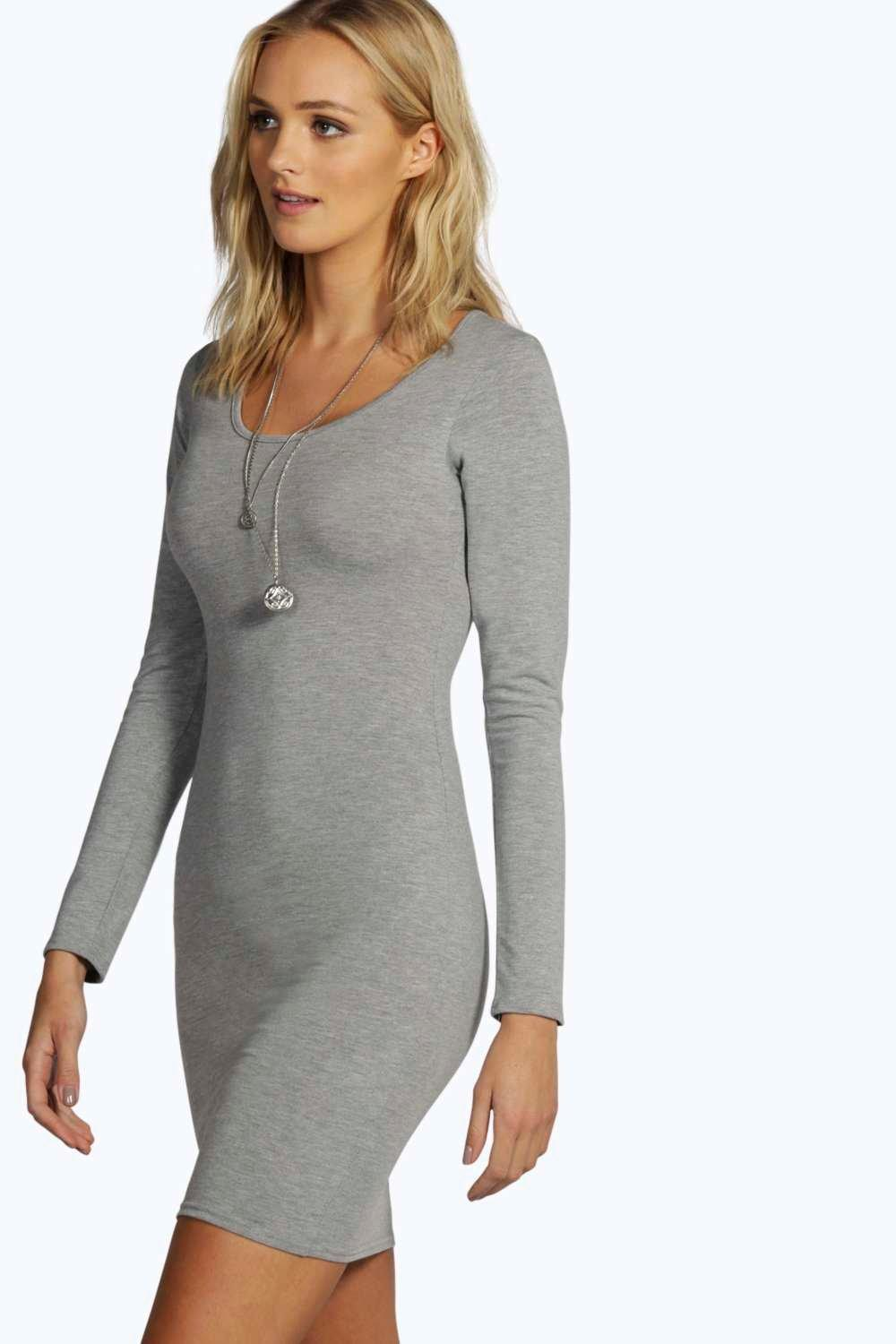 Tall Camille Long Sleeve Basic Mini Dress