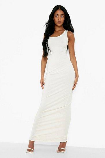 Ivory Tall Basic Maxi Dress
