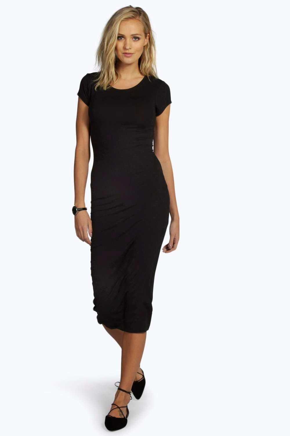 Boohoo Womens Tall Lola Cap Sleeve Midi Jersey Dress | EBay