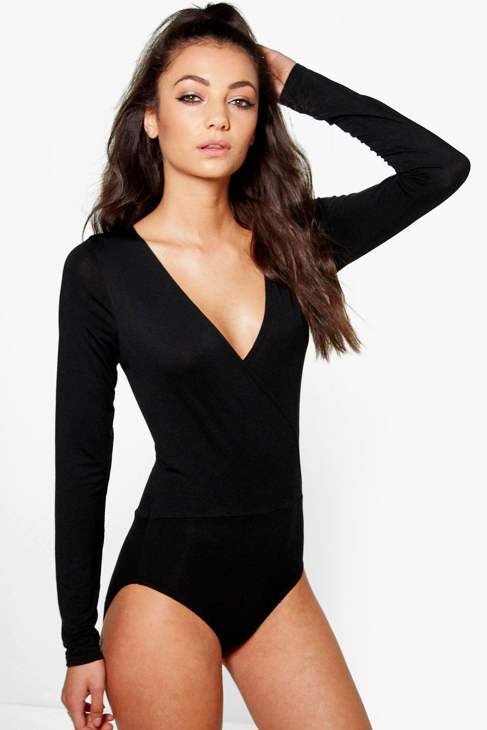 Tall Amy Wrap Front Bodysuit