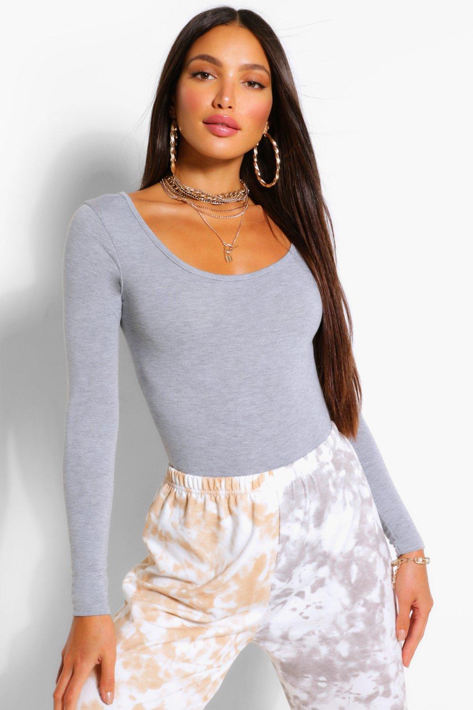 Boohoo Womens Tall Jennie Long Sleeve Bodysuit Ebay