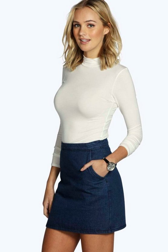 Tall Laura Long Sleeve Roll Neck Top