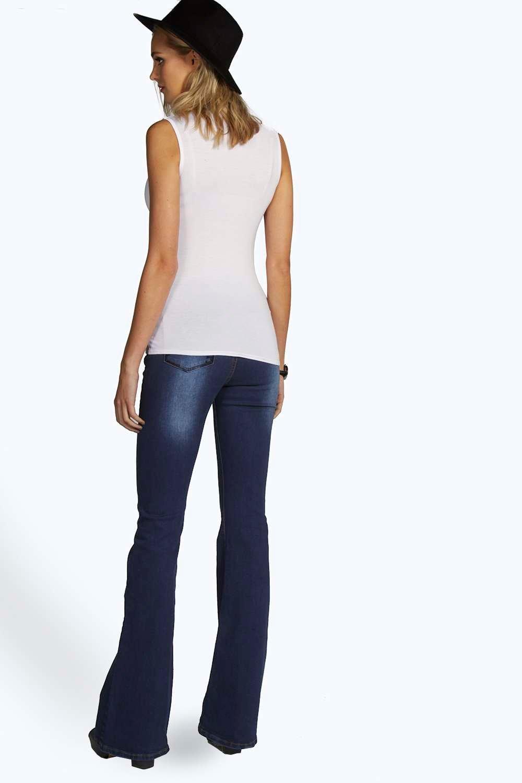Boohoo womens tall poppy sleeveless high neck top ebay for Tall sleeveless t shirts
