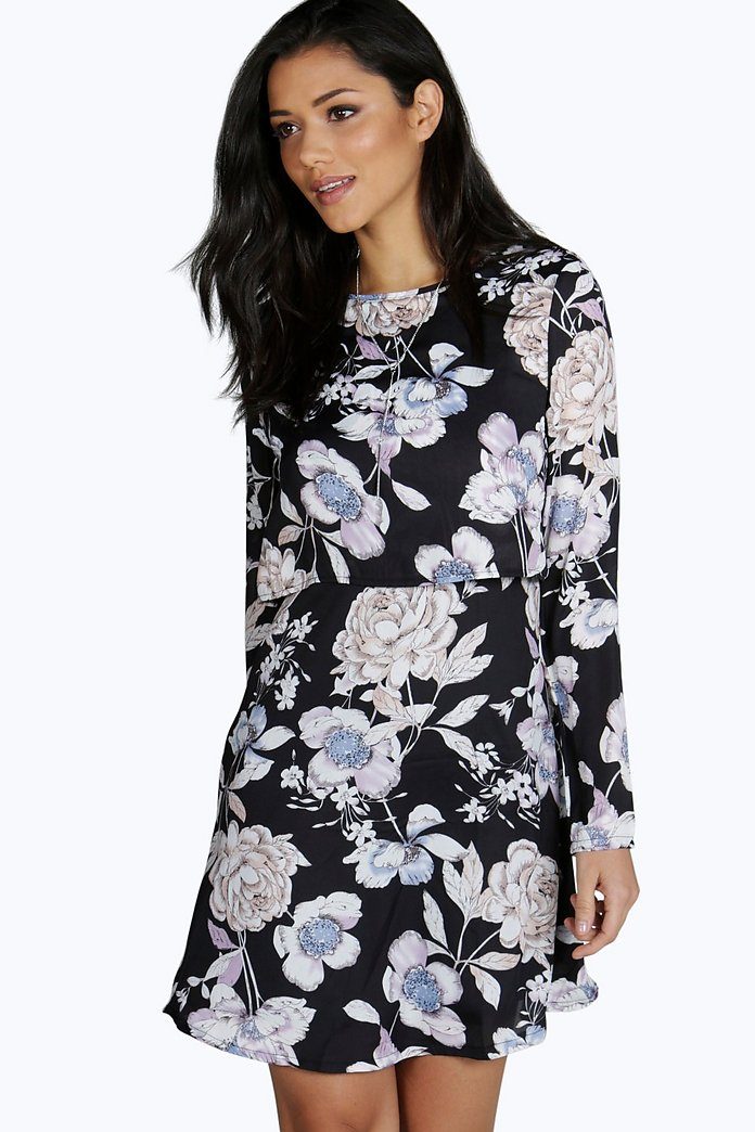 Iolanda Floral Layer Shift Dress