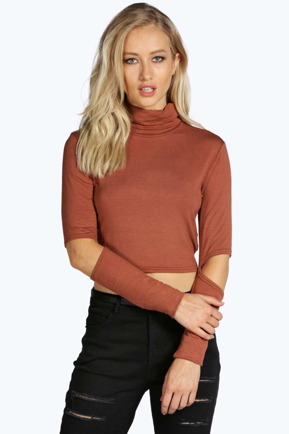 Janine Split Elbow Long Sleeve Top