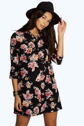 Liliane Floral Shirt Dress