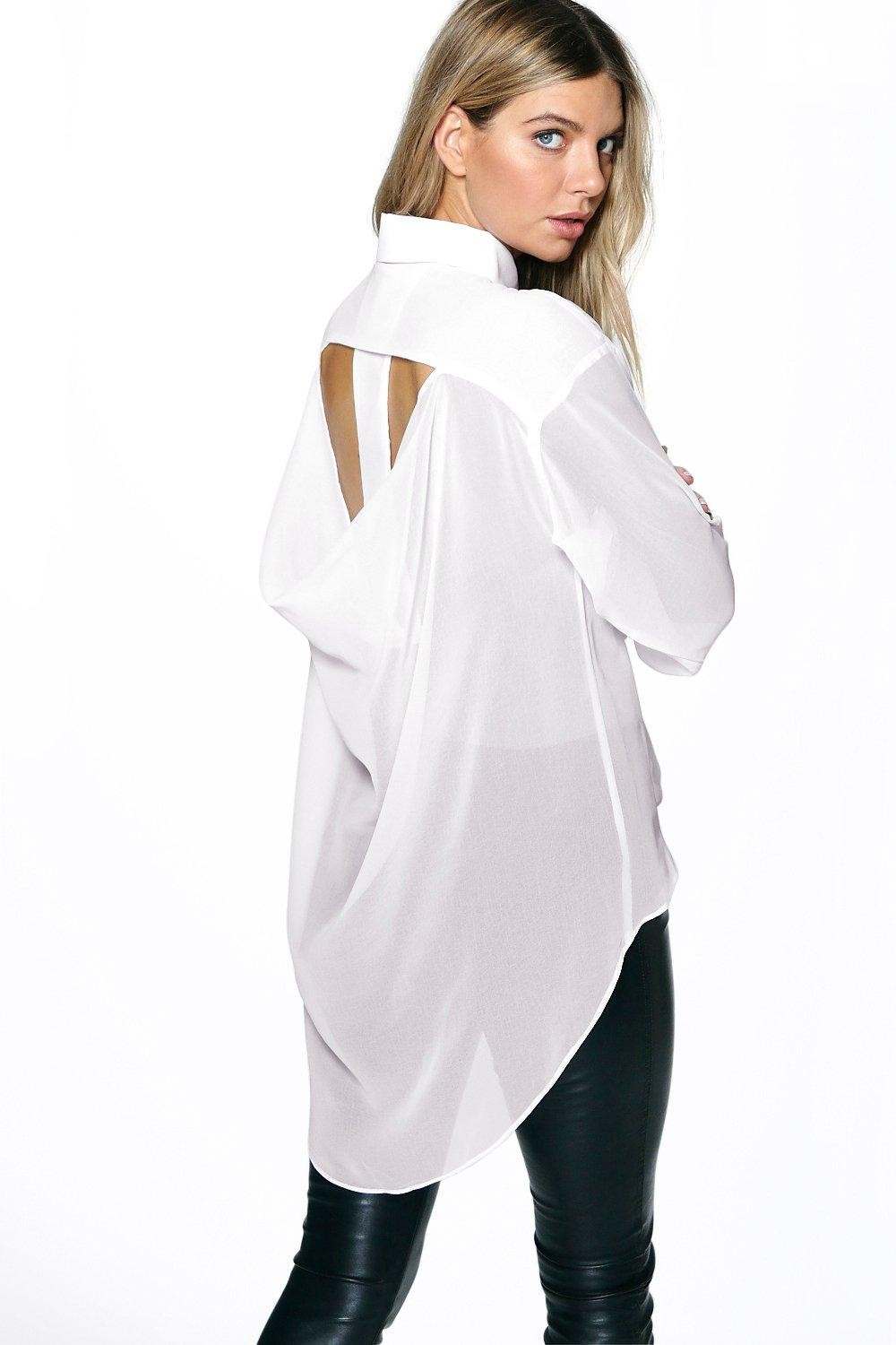 Georgia Open Back Dip Back Shirt