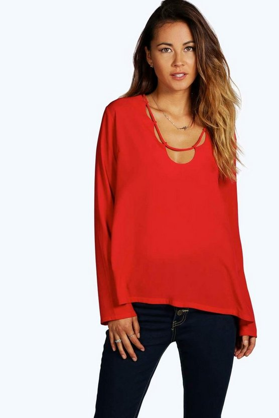 Loop Neck Detail Top