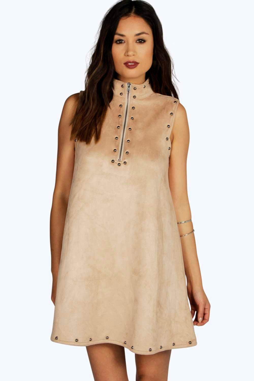 Boutique Kate Suedette Studded Shift Dress