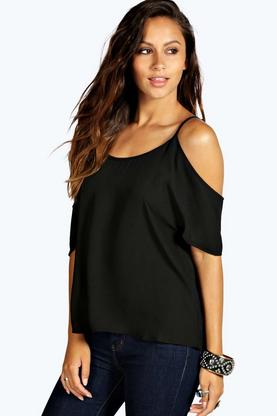 Dawn Open Shoulder Woven Top