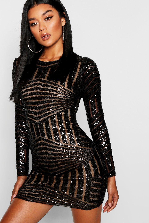 Womens Sequin Short Sleeve Open Back Dress Boohoo The Cheapest Cheap Price Nn5NbjAE7e