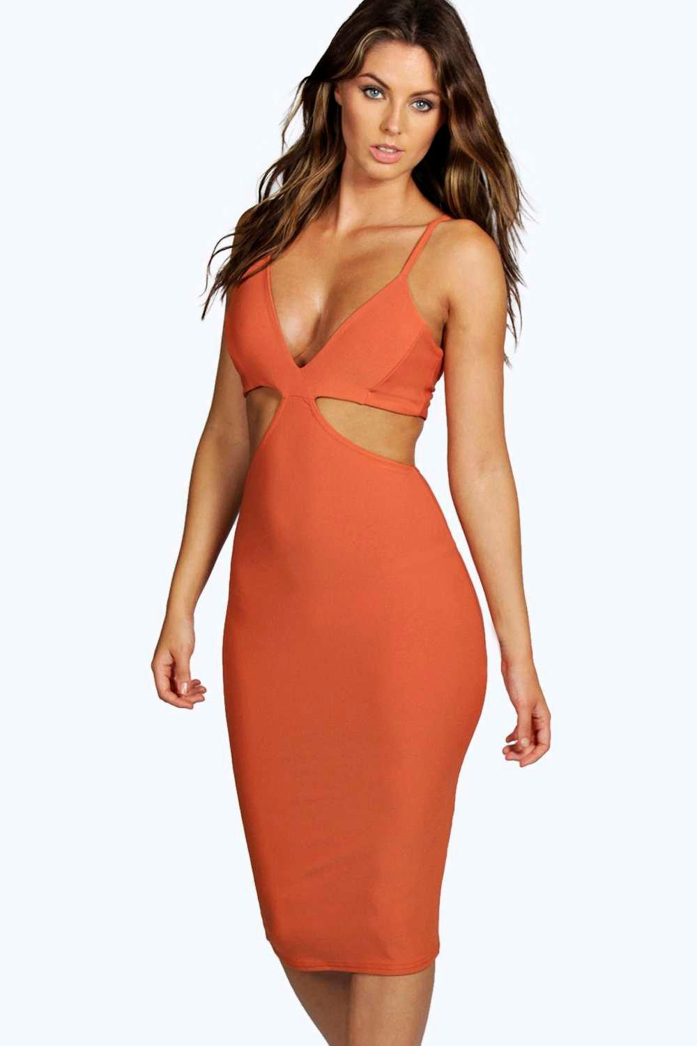 Asia Strappy Cut Out Detail Midi Dress