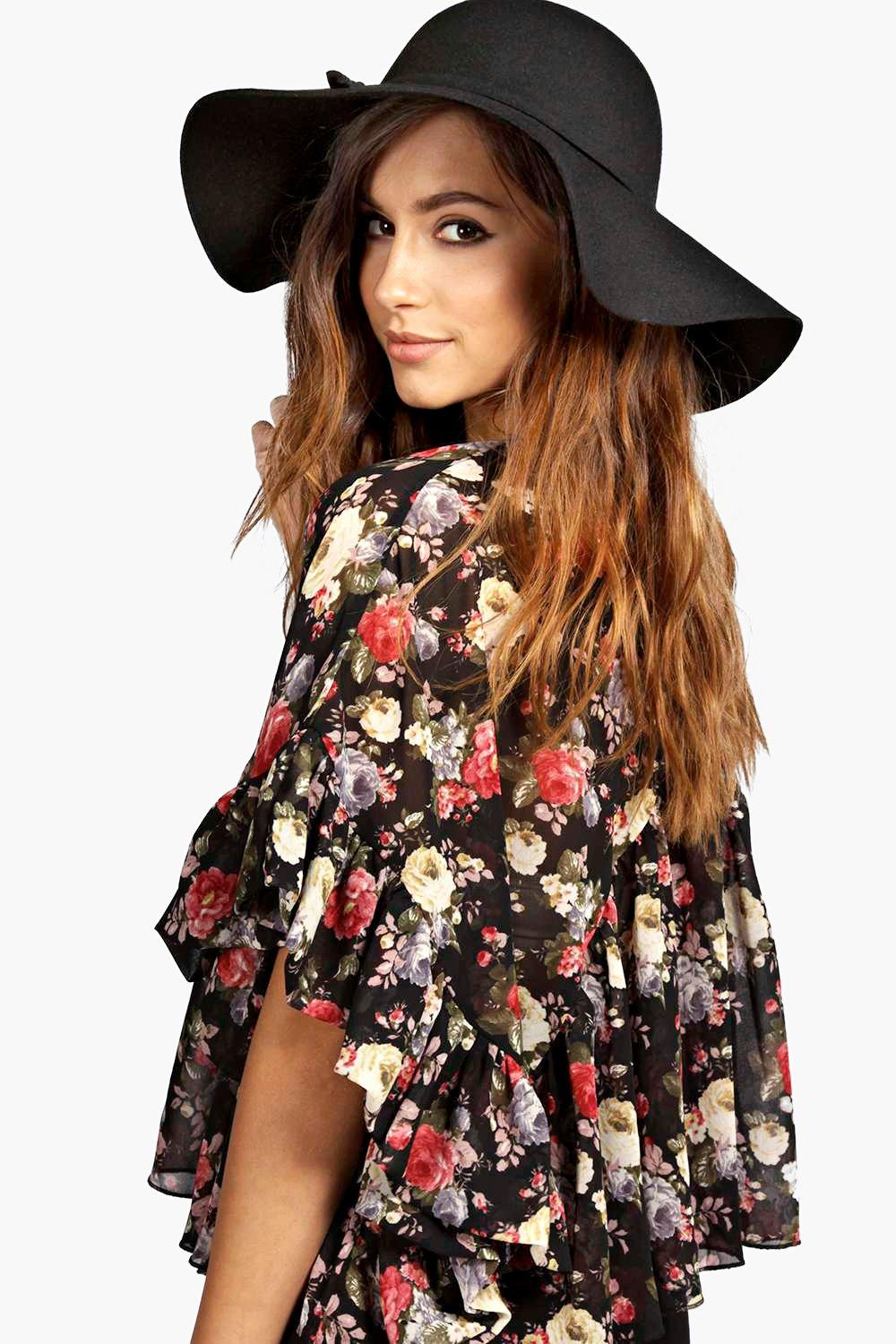Boutique Amber Oversize Wool Floppy Hat