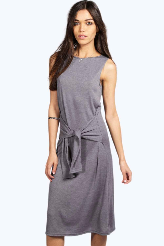 Tie front knit dress