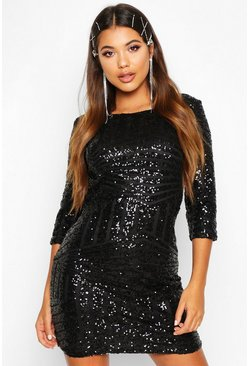 Boutique Rheann Sequin Bodycon Dress