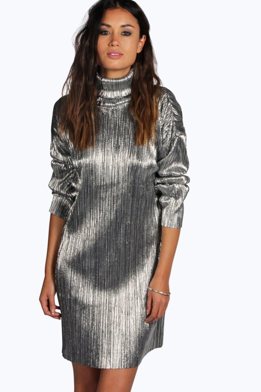 Silver Shift Dress