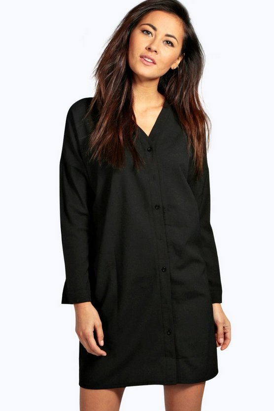 Natalia Lace Up Shirt Dress