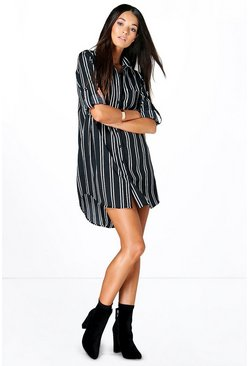 Sophia Stripe Shirt Dress