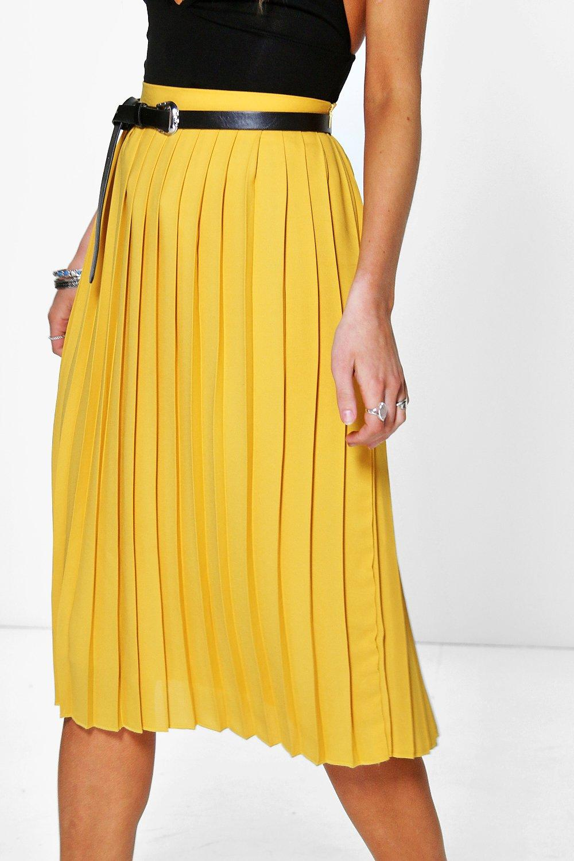 Nieve Chiffon Pleated Midi Skirt