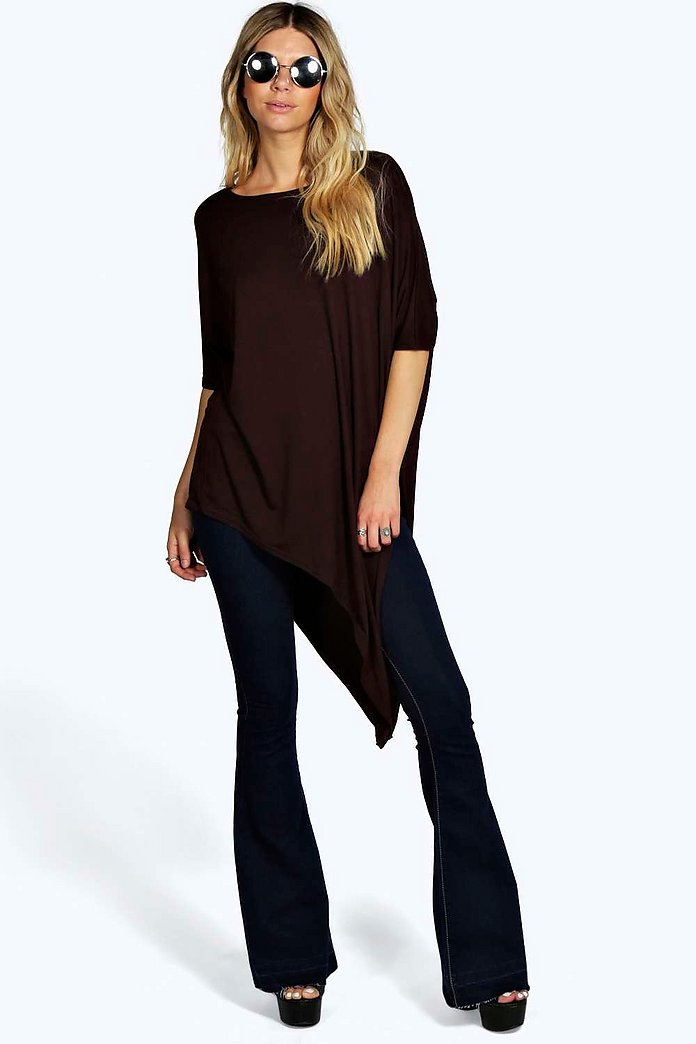 Rita Asymmetric Oversized Split Top
