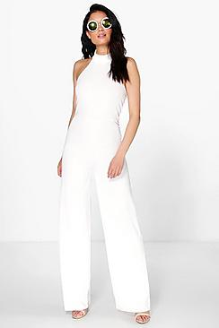 Jenna High Neck Cropped Leg Jumpsuit