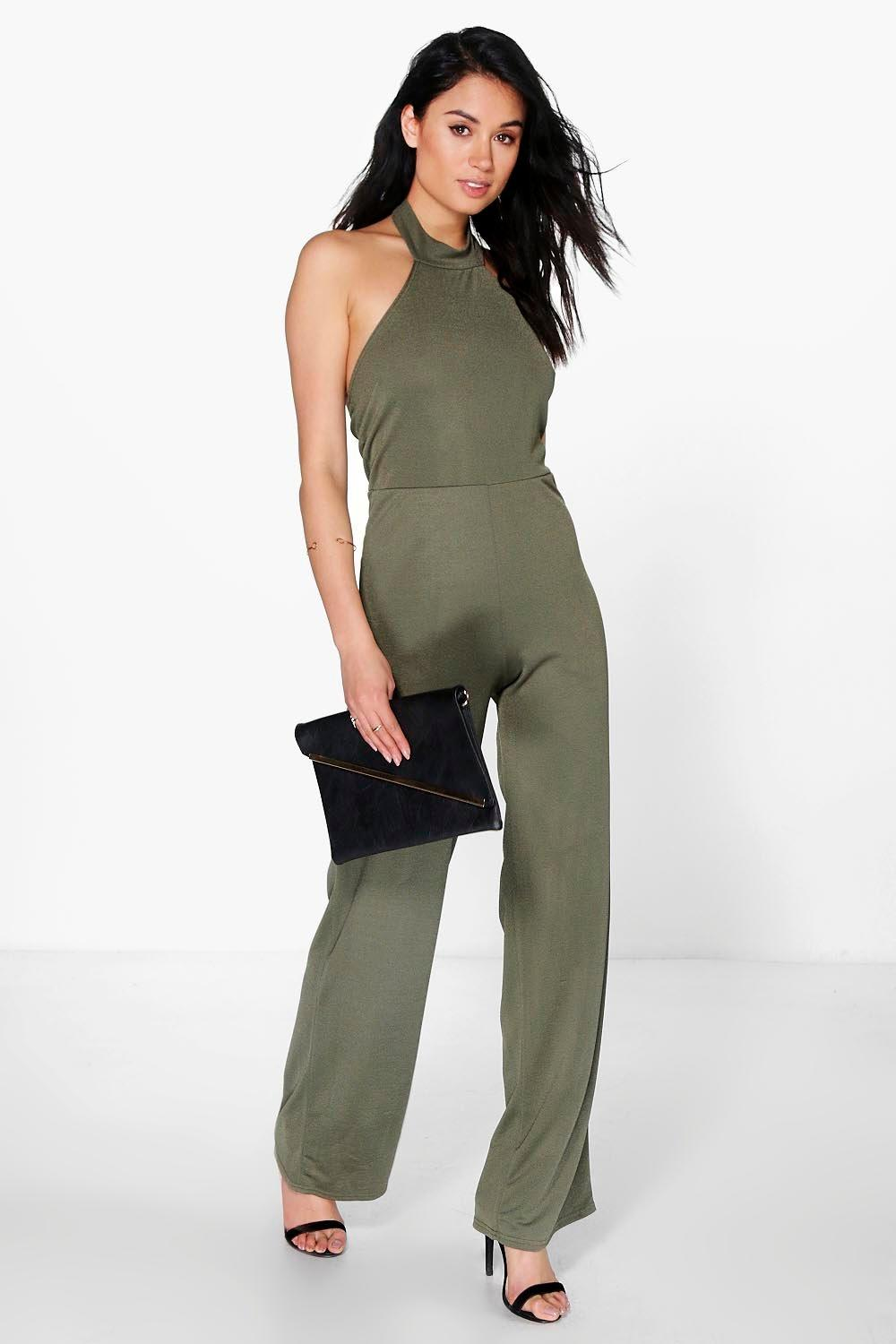 Jenna High Neck Wide Leg Jumpsuit
