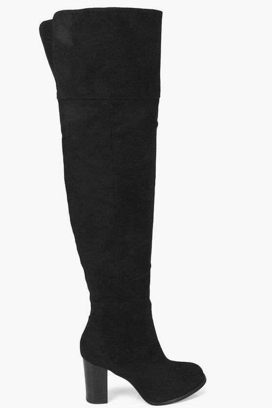 Abigail Thigh High Heeled Boots